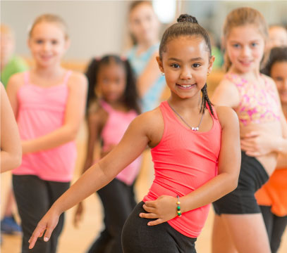 Dance class at Sacramento gym with childcare.