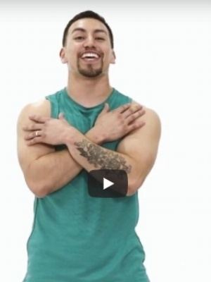 screenshot of cal fit exercise video