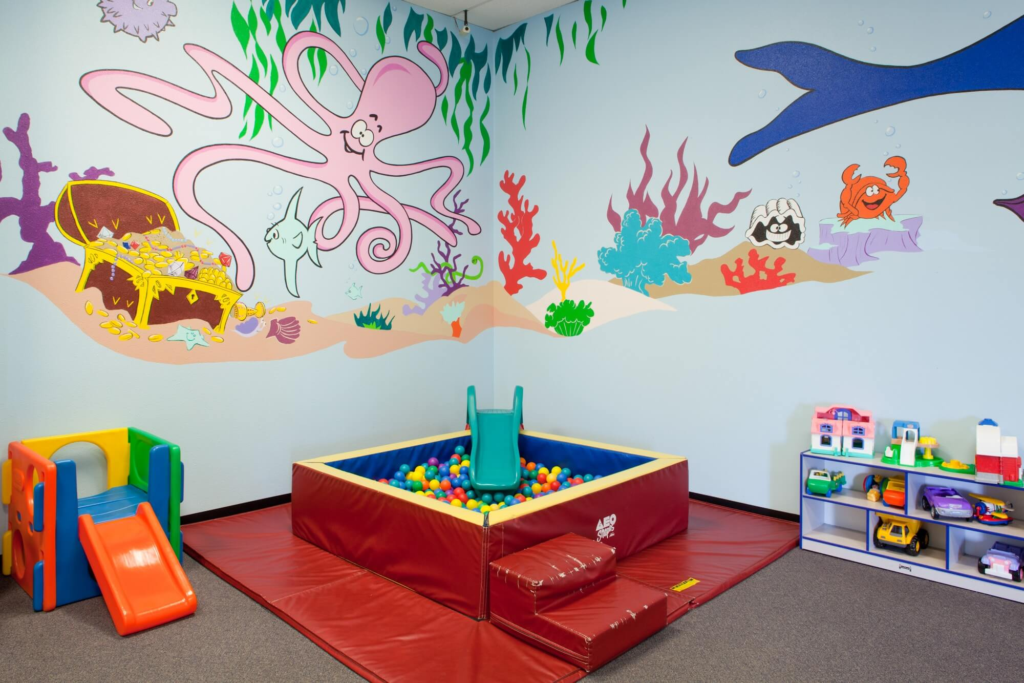 area for childcare in sacramento gym