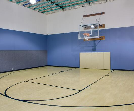 indoor basketball court in sacramento gym
