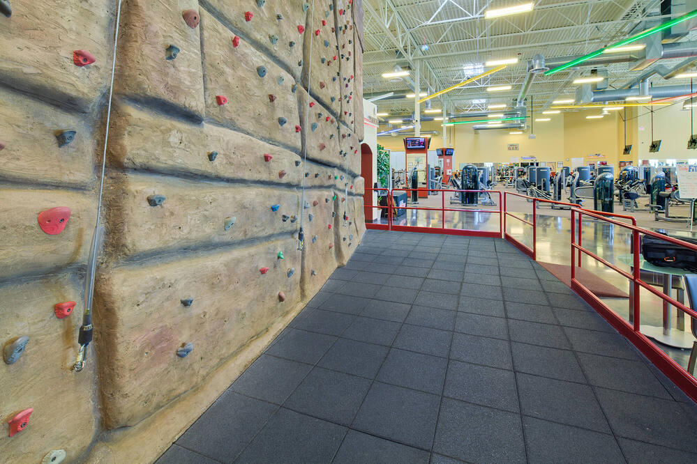 sacramento gym with indoor climbing wall