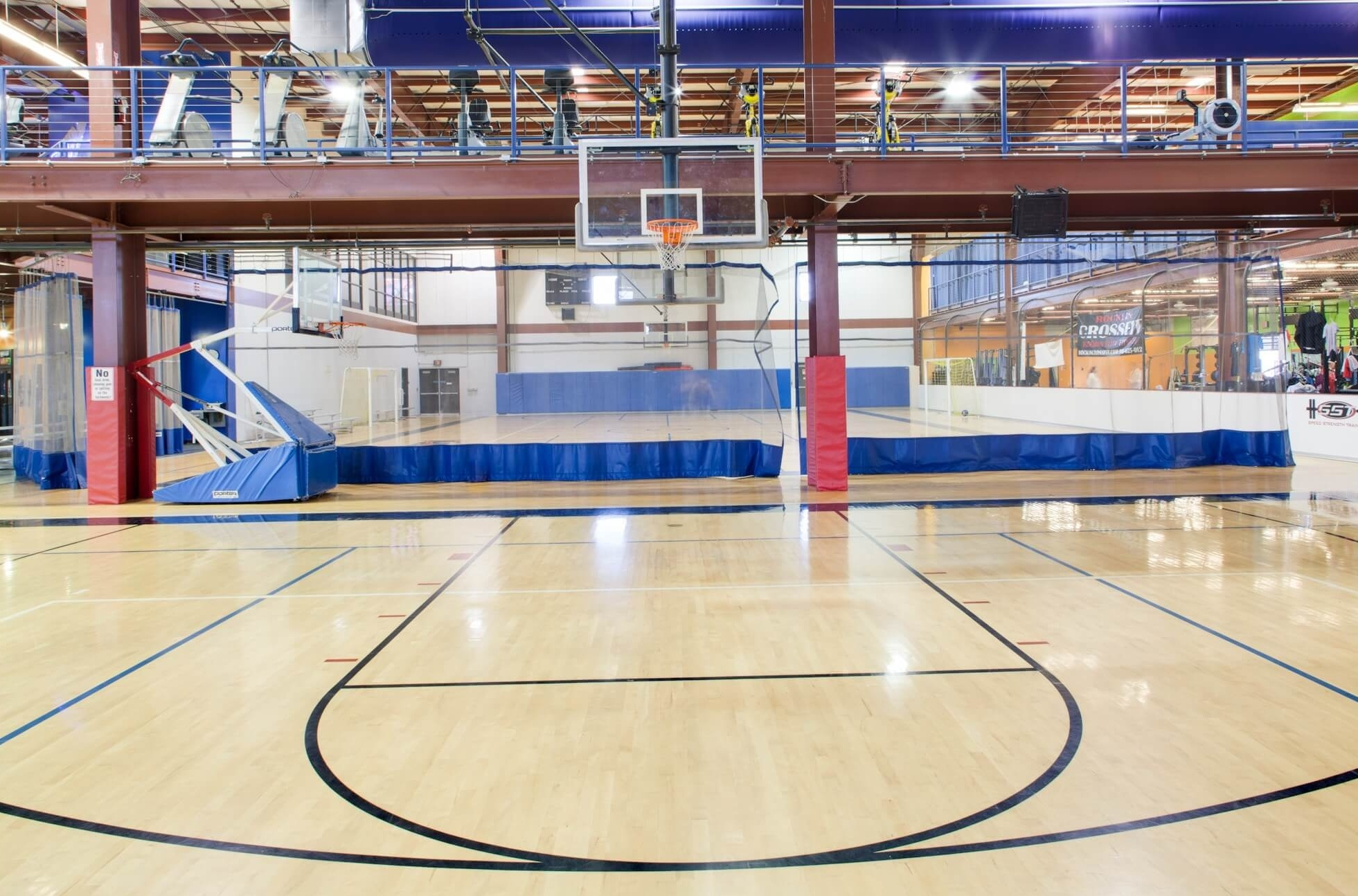 basketball court at rocklin ca gym