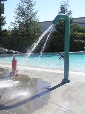 kids pool and spray garden at rocklin cal fit