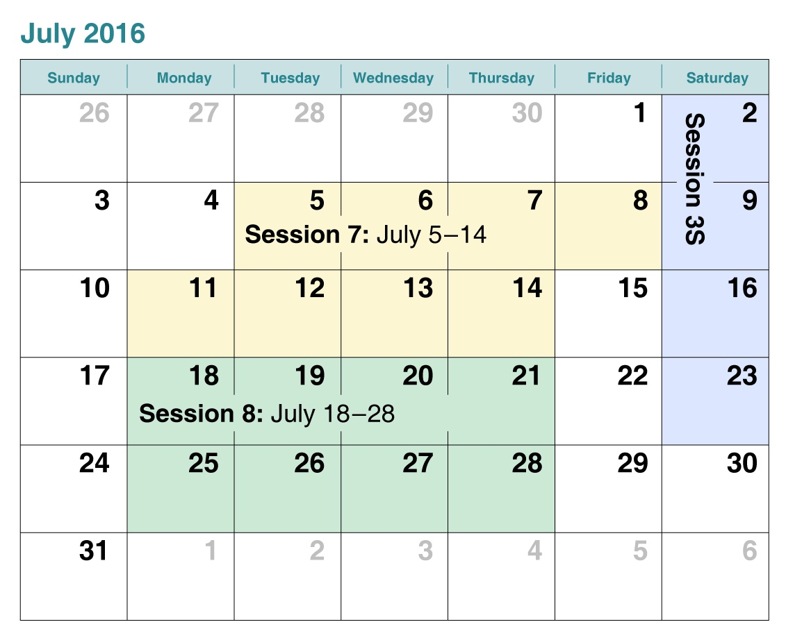 Sacramento swim lessons schedule for July