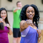 group fitness class at sacramento gym